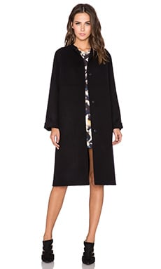 cacharel Double Face Coat in Bleu Nuit