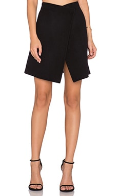 cacharel Asymmetrical Skirt in Blue Nuit