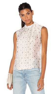cacharel Ruffle Front Tank in Cool Floral