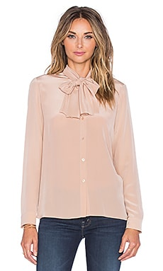 cacharel Ruffle Cuff Top in Nude