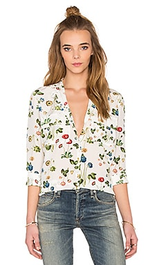 cacharel Blouse in White Floral