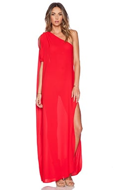 Caffe Maxi Dress in Red