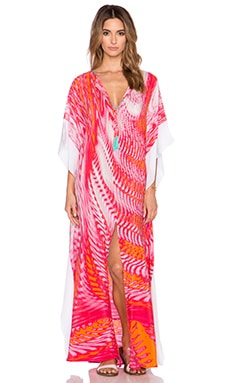 Caffe Embellished Caftan in Multi