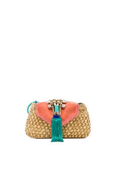Caffe Woven Clutch in Natural