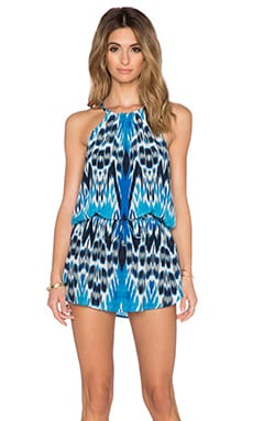 Caffe Halter Neck Romper in Tribal