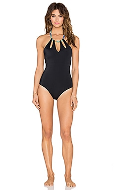 Caffe Cut Out Swimsuit in Black
