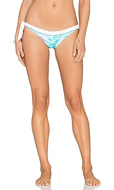 Caffe Side Tie Bikini Bottom in Aqua Snake