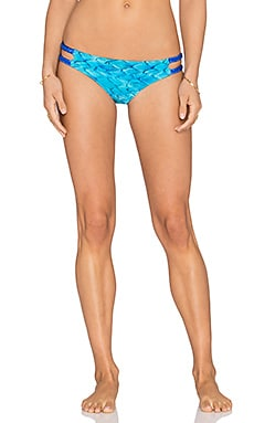 Caffe Twist Knot Reversible Bikini Bottom in Cobalt Blue