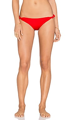 Caffe Twist Knot Bikini Bottom in Red