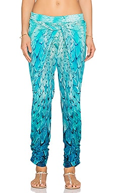 Caffe Feather Pant in Cobalt Blue