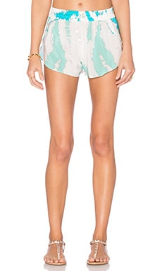 Caffe Jogger Short in Turquoise Tiger