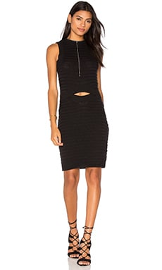 Cut Out Midi Dress in Black