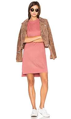 High Low Sweater Dress in Dusty Rose