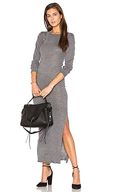 Slit Maxi Dress in Heather Gray