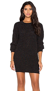 Callahan Sparkle Crewneck Sweater Dress in Black Multi