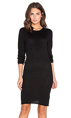 Callahan Crewneck Long Sleeve Dress in Black