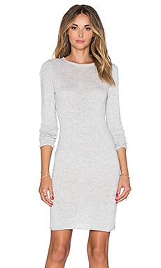 Callahan Crewneck Long Sleeve Dress in Heather Grey