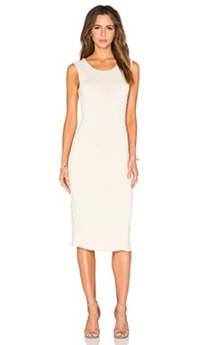 Callahan Low Back Midi Dress in Cream