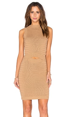 Callahan Cut Out Midi Dress in Camel