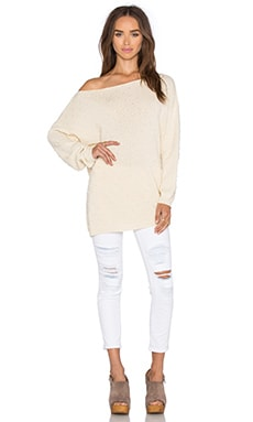 Off The Shoulder Sweater in Cream