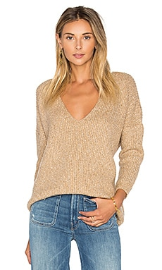 Heathered V Neck Sweater