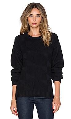 Callahan Geometric Crewneck Sweater in Black