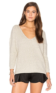 x REVOLVE Heathered V Neck Sweater in Heather Gray