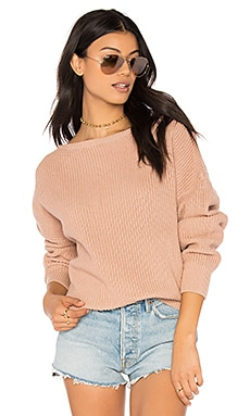 Fisher Off the Shoulder Sweater in Zartrosa