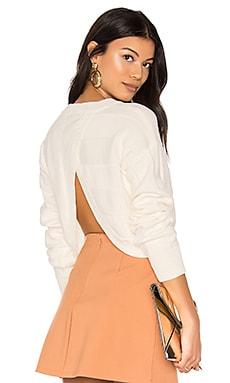 Vertical Open Back Sweater en Blanc