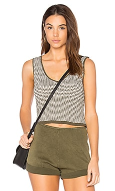 Stripe Mini Crop Tank in Army
