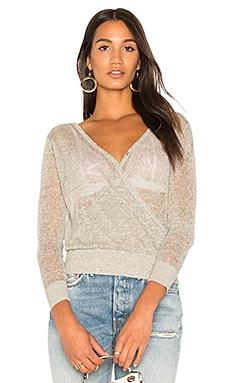 Sheer Cross Over Sweater