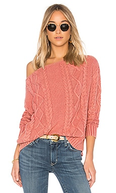 Cable Knit Off the Shoulder Sweater Callahan $120