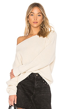 Shaker Knit Off Shoulder Sweater