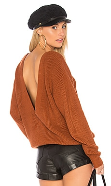 Shaker V Back Sweater
