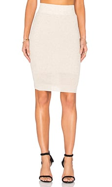 Pencil Midi Skirt in Cream