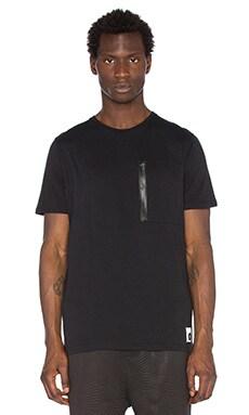 Cahill+ Zip Detail Tee in Black