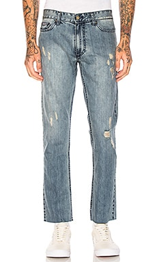 Slim Logo 5 PKT Frayed Jeans