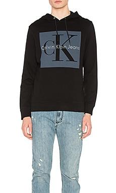 Прямое худи с логотипом re-issue - Calvin Klein