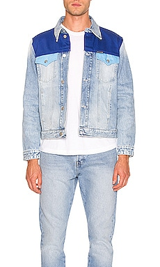 CHAQUETA FOUNDATION TRUCKER BLOCKED Calvin Klein $64