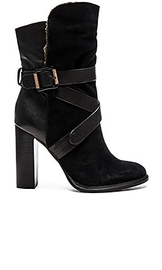 Calvin Klein Jeans Tanya Bootie with Faux Fur in Black & Natural