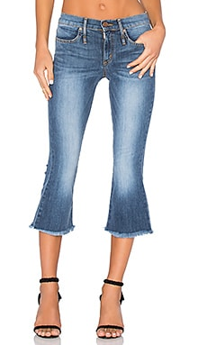 Liv 4 Luv Cropped Flare Jean in Surf Blue Wash
