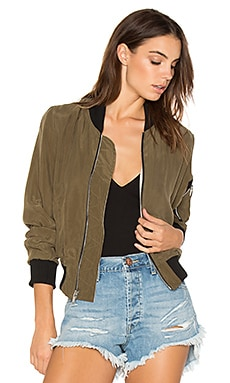 Fast Reversible Bomber Jacket in Olive & Blush
