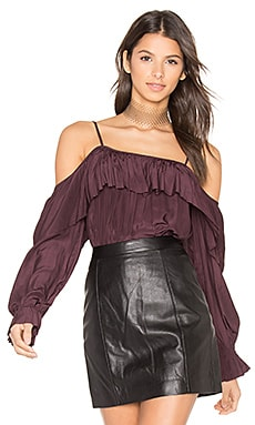 You Sang To Me Blouse en Noir Grenat