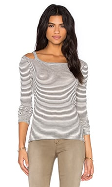 Lover Boy Top en Gris, Noir & Blanc