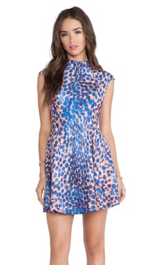C/MEO Night Sky Dress in Cobalt Leopard