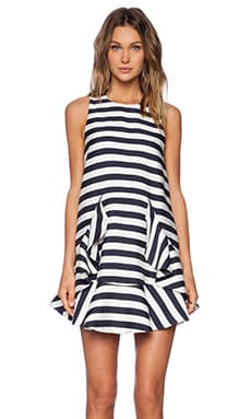 C/MEO Oceans Dress in Bold Stripe