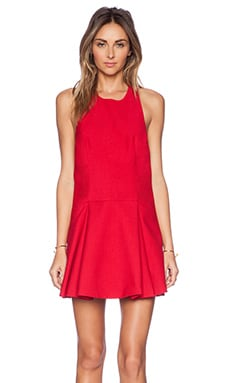C/MEO Folding Shadows Dress in Scarlet Red