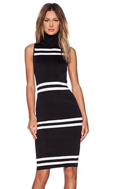 C/MEO Pyramids Dress in Black & Ivory