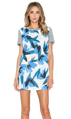 C/MEO The Otherside Dress in Blue Floral