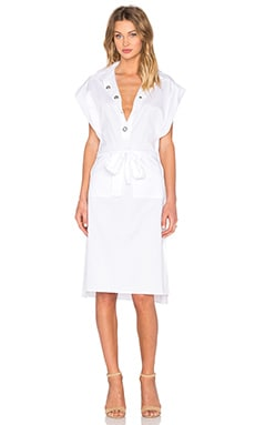 Midnight Shirt Dress in White